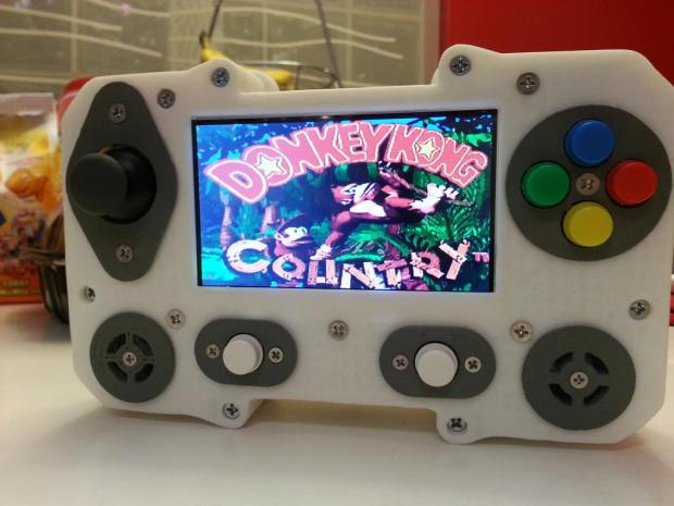 121 - The finished product running Donkey Kong Country