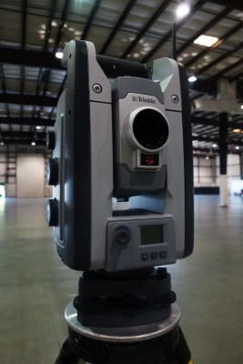 Up close with the Trimble S8 Total Station.