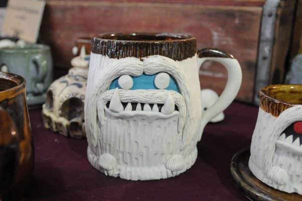 "This is the ""before-I've-had-my-coffee"" face. Add these lovely functional ceramic sculptures to your kitchen. skeletaldropkick.com"