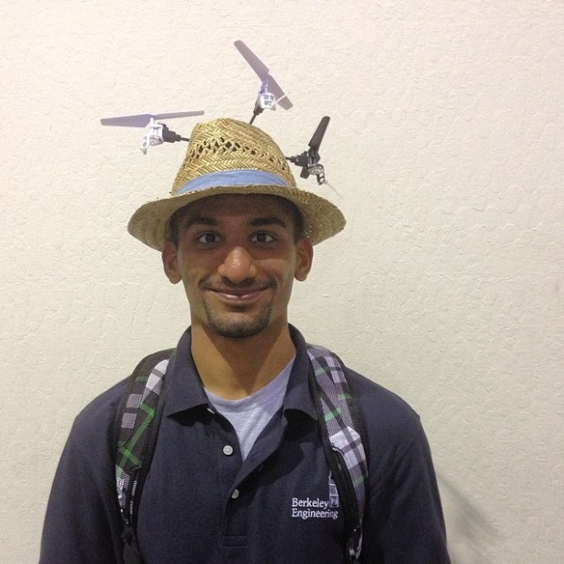 Quad propeller hat — fashion in full flight!
