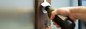 CapCatch- Magnet mounted bottle opener