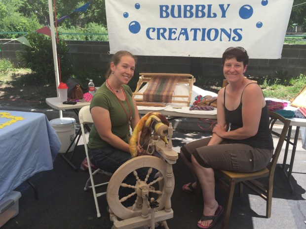 Bubbly Creations doing a live spinning demonstration