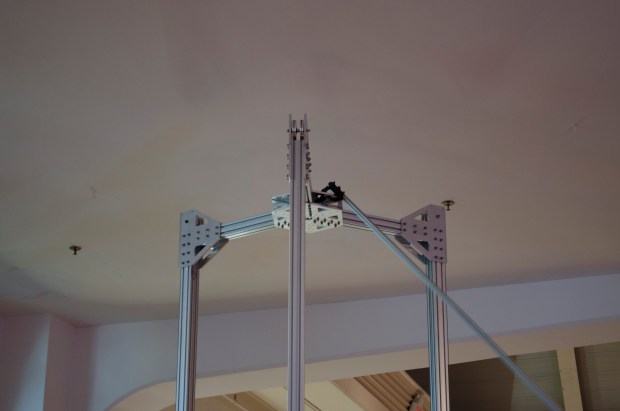 Pole support stuck