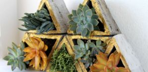 How-To: Concrete Modular Geometric Wall Planters
