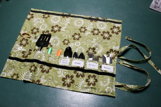 Sew Your Own Camping Silverware Holder Make