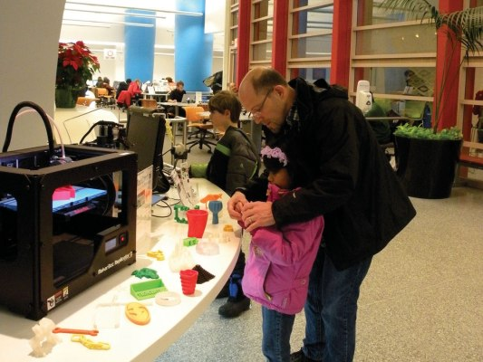 Cleveland, Ohio –  The Cleveland Public Library moved its DVD library to make room for 3D printers, a laser cutter, kits, and collaboration space.