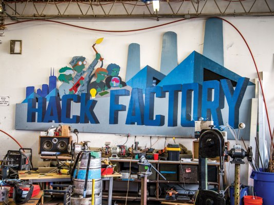 Minneapolis, Minnesota –  Minnesota's largest member-owned, multiple-discipline shop features a cabinetry-quality wood shop, a welding studio, and a machine shop, but it's most famous for its life-size game of Operation.