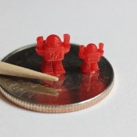 Sample tiny prints at 25 micron resolution.