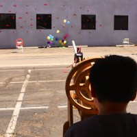 Paper rockets taking down space invadors and balloons by 3Rs Robotics
