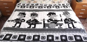 Beatles Iotacons Blanket From Granny Squares