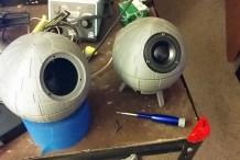 3D Printable Death Star Shaped Speaker Enclosures