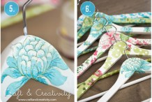 Decoupage Wooden Coat Hanger