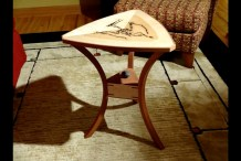 Hand Carved Faux Fossil Table is a Paleontologist's Dream