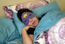 DIY Crocheted Adventure Time Sleep Mask