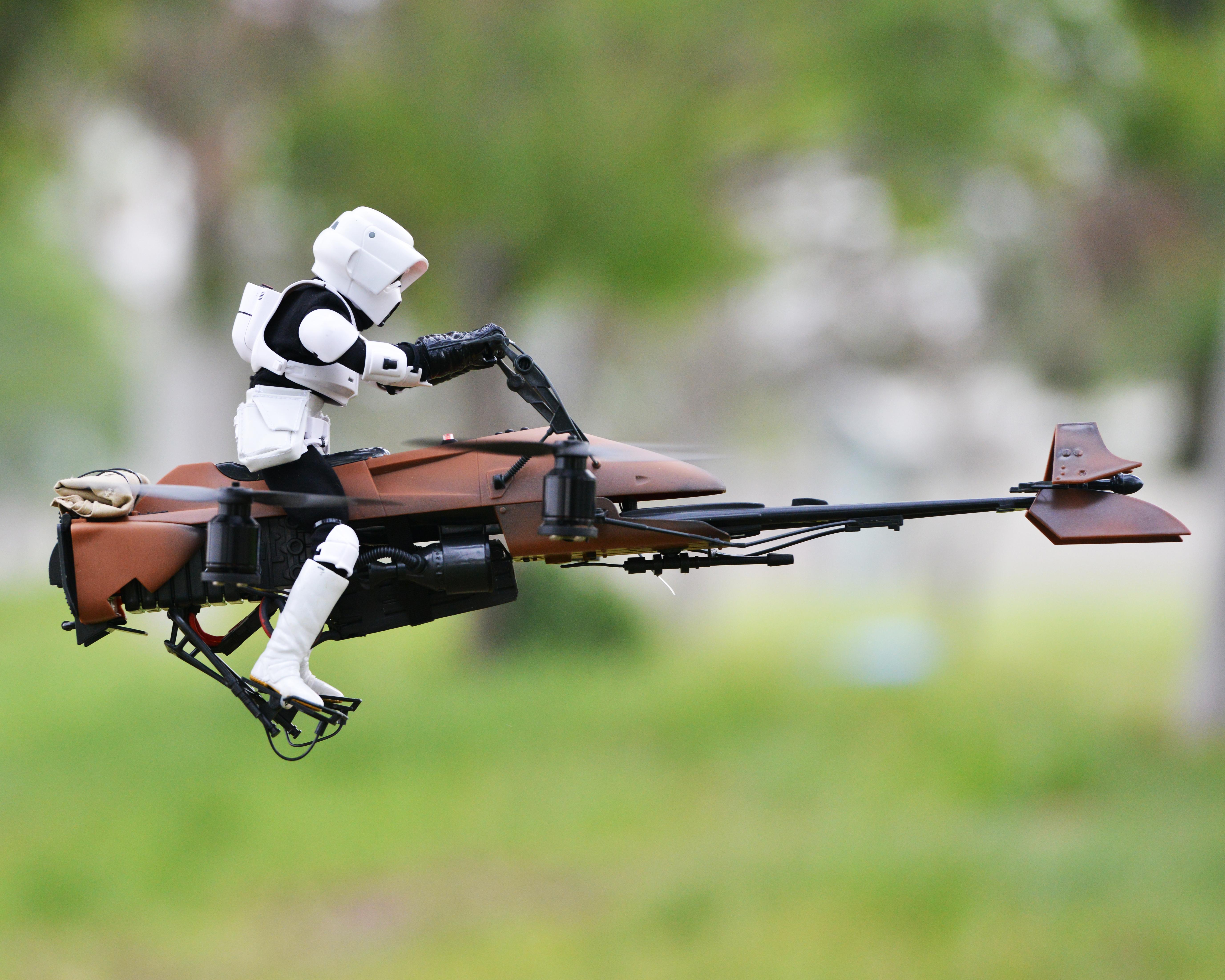 Fpv Star Wars Speeder Bike Quadcopter Make