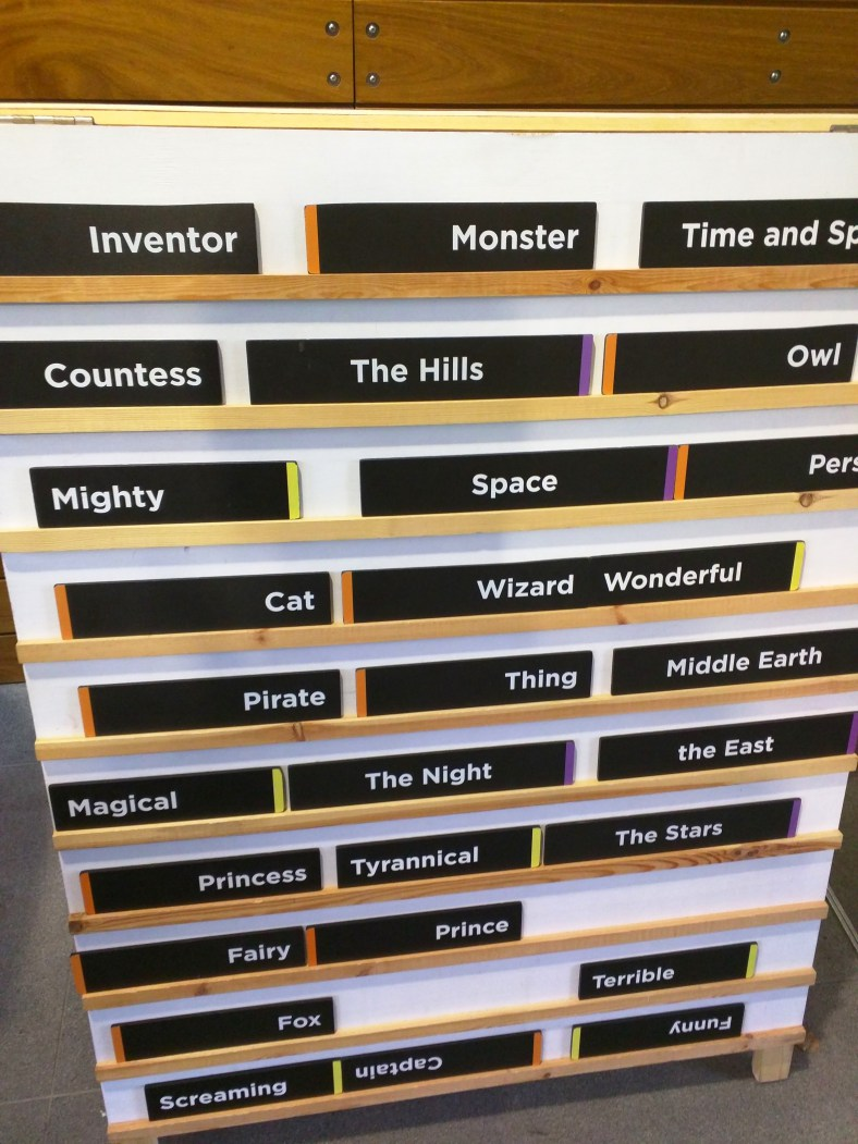 These were some of the words you could choose for your title for the Talking Throne.