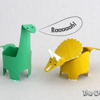 Kid Crafts: Toilet Paper Roll Dinosaurs