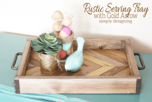 Follow The Arrow: DIY Rustic Serving Tray
