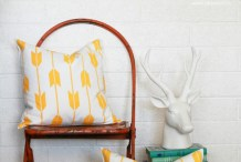 Easy Decor Update: Stenciled Throw Pillow