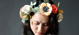 Spring Beauty: Felt Flowers for Crowns or Clips