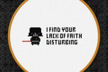 The Dark Side of Stitching: Darth Vader Cross-Stitch