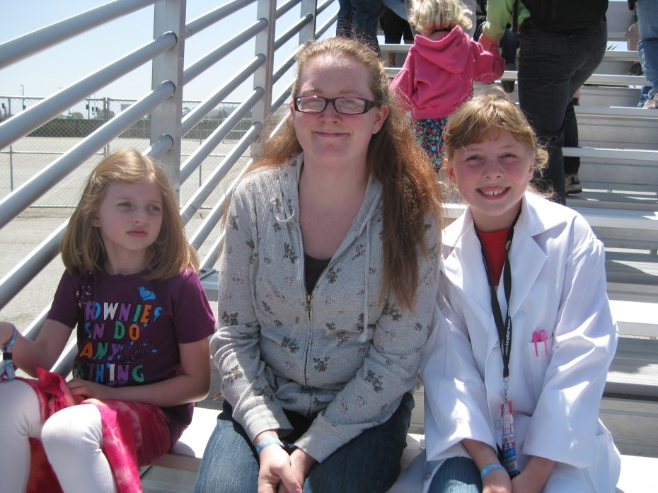 Christina Todd with her two daughters, Talulah and Sylvia.