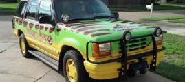 Jurassic Park Car Replica Is Perfect for Dinosaur Hunting
