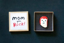 Last Minute Gift: Rock Portrait for Mom