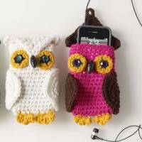 Fun with Fiber: Crocheted Owl Cell Phone Cozy