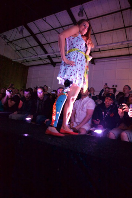 fashion show prosthetic leg