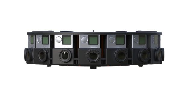 Detail of GoPro's upcoming 360-degree camera array, compatible with Google JUMP.