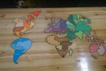 An Engraved Wooden Risk Game Table