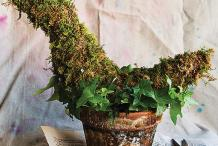Mossy Marvel: Topiary Bird Centerpiece