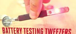 Battery Testing Tweezers
