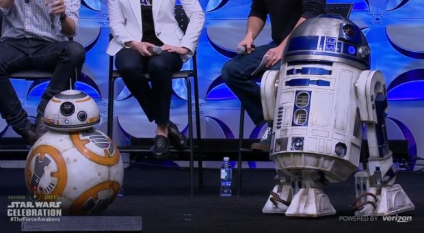 BB8 and R2.