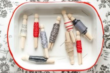 Organization Inspiration: Store Ribbon Scraps on Clothespins