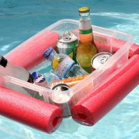 Make a Floating Pool Noodle Beverage Boat