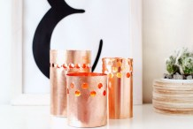 Summer Decor: DIY Punched Copper Votives