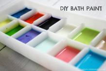 DIY Kid-Friendly Bath Paints
