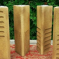 fifth element stone candle holders