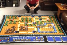 It Took 6 Years to Crochet This Amazing Super Mario Rug