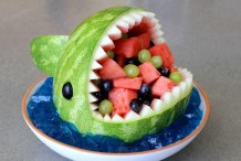 Toothsome Treat: Make a Shark Fruit Bowl from a Watermelon