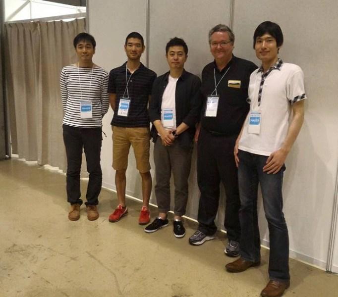 Shigeru Kobayashi, Matsakazu Ohtsuka, Kei Shiratori, Dale Dougherty and Shota Ishiwatari