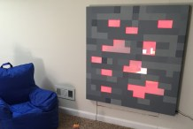 Light-Up Minecraft Wall Hanging Is the Picture of Pixelated Coziness