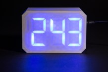 3D Print a Supersized Seven-Segment Clock