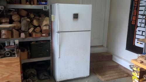 convert an old fridge into a wood kiln woodworking make. Black Bedroom Furniture Sets. Home Design Ideas
