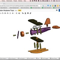 Screenshot: OnShape CAD software; Plane design: Kurt Hamel
