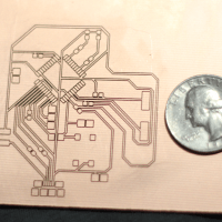 This PCB has 10 mil traces and spaces, but Prometheus can work down to 7 mil.