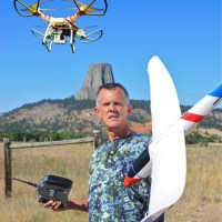 SWARM founder Jim Bowers with a couple of drones. Photo: Michelle Bowers