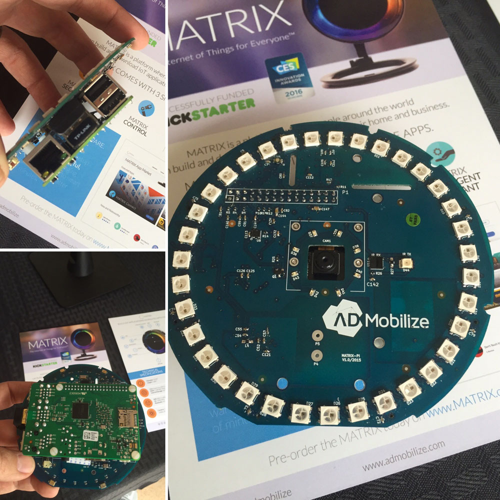 MATRIX IOT platform dev kit (as a Raspberry Pi HAT)